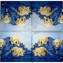 щенки  на синем