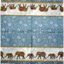 караван слонов и фоновый узор