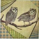 совы и ткань пэчворк