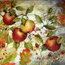 винтаж с яблоками