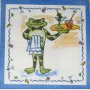 лягушка официант