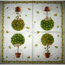 цитрусовые деревца (бежевый край)