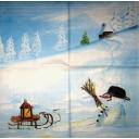 снеговичок с метлой