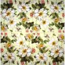 лен с розочками - цветочками