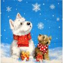две собачки с подарками
