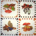 4 картинки с грибами - ягодами
