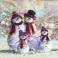 четыре снеговика