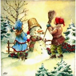 отличный снеговик!