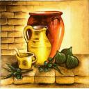 натюрморт с оливками