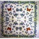 незабудки и бабочки