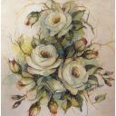Белые розы 33 х 33
