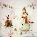 зайка и снеговики