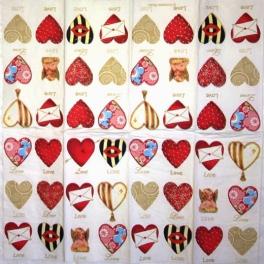 любовь, любовь, сердечки 21х21