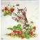 котенок с клубничкой