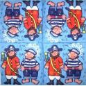 Пираты (голубой фон)