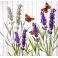 лаванда и бабочки 25х25