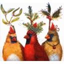 птицы новогодние 25х25