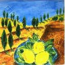 Пейзаж и лимоны