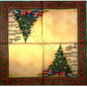 две  елки, ноты и узор
