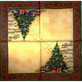 елка, ноты и узор