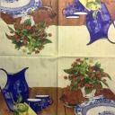 Натюрморт с ягодами и синей посудой