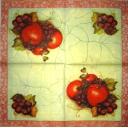 яблоки и ягоды на кракелюре