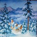 пейзаж, зима..