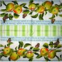 яблочки, бордюр с зеленой полосой