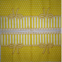 ткань с кружевом желтая