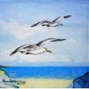 Чайки над волной