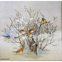 птички на кустике