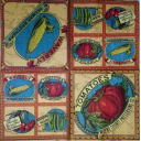 овощи и вишня винтаж