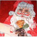 Санта с колокольчиком