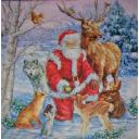 Санта в лесу
