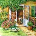 Уютный дворик.