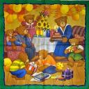 семья мишек, день рождения