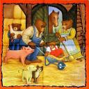 семья мишек, ферма