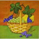 корзинка с виноградом и грушами