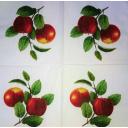 красные яблочки