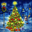 Снеговик и елка
