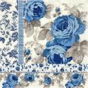 синие розы с фоном