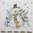снеговики с друзьями