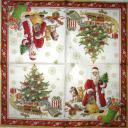 Санта и елка винтаж