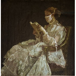 девушка с книгой, самоизоляция...