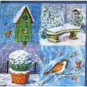 птички в зимнем саду.