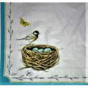 птичка с гнездом 25 х 25