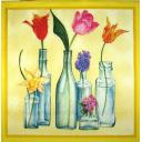 весенние цветы с бутылках