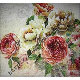Розы белые и розовые