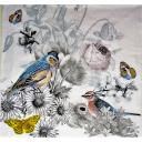 птички и цветы
