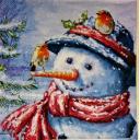 Снеговик и снегири